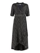 Ganni Wrap-dress - black