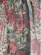 Dolce & Gabbana Floral & Leopard Print Scarf - Hkirs Rose Rosse