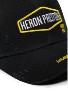 HERON PRESTON Logo Embroidered Baseball Cap - Nero giallo bianco