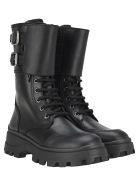 Miu Miu Double Straps Boots - BLACK
