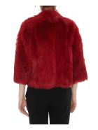 RED Valentino Double Face Eco Fur Jacket - Red