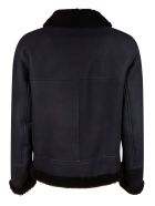 DROMe Buckled Collar Zip Jacket - Navy