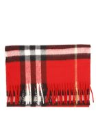 Burberry Red Cashmere Tartan Scarf - Red