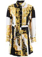 Versace Shirt Dress With Barocco Acanthus Print