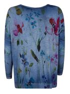 Avant Toi Printed Jumper - Blue
