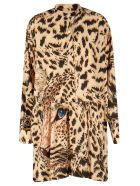MSGM Tiger Print Dress - Beige/Black