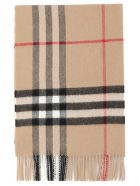 Burberry Mu Giant Check Scarf - CAMEL CHECK