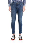 Dolce & Gabbana Jeans With Embroidered Monogram - Blu