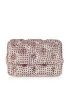Benedetta Bruzziches Floral Printed Pink Satin Silk Carmen Shoulder Bag - Pink