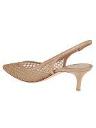 Gianvito Rossi Fishnet Sandals - Beige