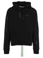 Off-White Off White Unfinished Logo Print Hoodie - BLACK