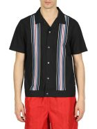 Stussy Striped Knit Panel Shirt - Nero