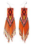 Jessie Western Earrings - Orange
