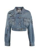 Moschino Cropped Denim Jacket - Denim