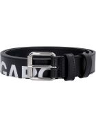 Comme des Garçons Wallet Leather Belt With Buckle - black