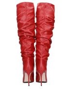Le Silla High Heels Boots In Red Leather - red