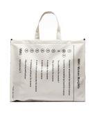 MM6 Maison Margiela Classic Brand Shopper Bag - Bianco