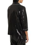 In The Mood For Love Sofia Sequined Pyjama Blazer - Nero
