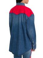 Calvin Klein Jeans Oversized Western Denim Shirt - Blu