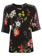 Etro Flower Print T-shirt - Black