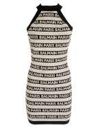 Balmain Logo Halter Dress