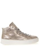 Crime london High Nude Sneakers In Metallic Leather - Nude