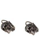 Alexander McQueen Pave Skull Stud Earrings - Multicolor