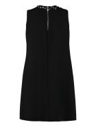 Boutique Moschino A-line Dress With With Decorative Piercing - black