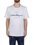 Salvatore Ferragamo White Cotton T-shirt - White