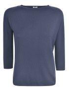 A Punto B Quarter-length Sleeved Sweater - Navy