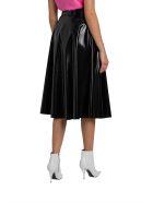 MSGM Vynil Skirt With Belt - Nero