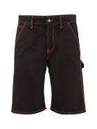 MSGM Denim Shorts - black