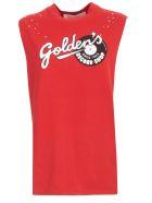 Golden Goose T-shirt W/s Crew Neck Golden Record - Goji Berry Golden Record