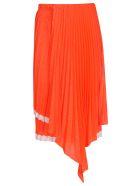 Circus Hotel Pleated Skirt - Orange