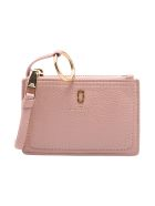 Marc Jacobs 'top Zip' Leaher Wallet - Pearl Blush