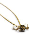 Marni Strass Bow Necklace - Giallo oro