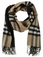 Burberry Giant Check Fringed Scarf - Black