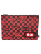 McQ Alexander McQueen Logo Patched Clutch - Red