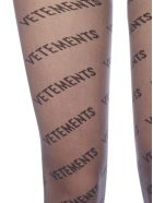 VETEMENTS All-over Logo Tights - Black