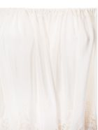Stella McCartney Off Shoulder Perforated Blouse - Natural