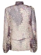 Dsquared2 Bow-neck Lace Printed Dress - Multicolor