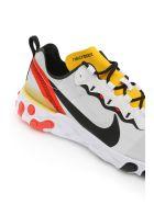 Nike React Element 55 Sneakers - WHITE BLACK BRIGHT CRIMSON (Yellow)