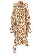 Rokh Asymmetric Animalier Dress - LEO (Beige)