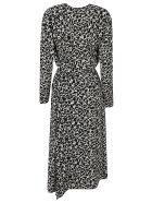 Isabel Marant V-neck Printed Long Dress - Black
