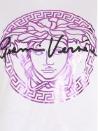 Versace 'medusa Signature' T-shirt - Bianco, Rosa e Nero