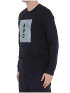 A.P.C. Logo H Sweatshirt - Navy