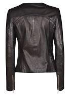 S.W.O.R.D 6.6.44 S.w.o.r.d 6.6.44 Round Neck Zipped Jacket - Black