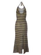 Jacquemus Le Robe Tropea Longue Lungo Maglia - Grey Striped Grey Striped Grey