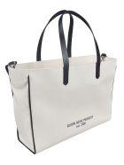 Golden Goose Logo Printed Shopper Bag - Panna