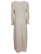Charlott Frayed Trim Dress - Beige